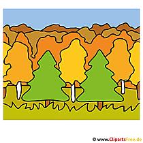 Wald Clipart - Bilder Herbst kostenlos