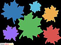 Imagine de fundal cu frunze de arțar colorate imagine PNG