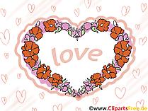 eCard, Glückwunschkarte,  Clipart, Comic, Ich liebe dich