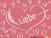 Grusskarten Liebe, - Love Cliparts, GB Bilder, Grafiken, Cartoons