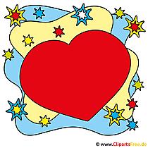 Herz Bild, Clipart, Comic