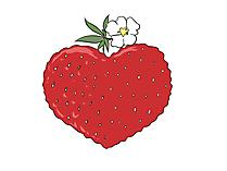 イチゴの形をしたハートクリップアート、写真、グラフィック
