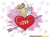Herz Liebe Grusskarte, Clipart, GB Bild, Grafik, Cartoon