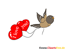 Herzen Luftballons Clip Art, Bild, Grafik, Grusskarte