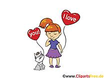 Liebeserklärung Clip Art, Bild, Grafik, Grusskarte