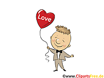 Love Glückwunschkarte,  Cliparts, Comic, eCard gratis