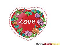 Romantische Liebesgrüsse, Liebesgeflüster Grusskarten  eCards