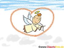 アムール天使の背景、デスクトップの壁紙