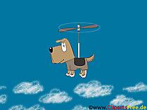 Pies kreskówki tło ekranu