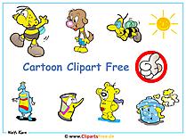 Darmowe animowane kreskówki w stylu clipart - Darmowe grafiki w tle