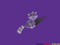 Dobre tapety - Czarny kot