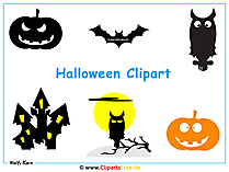 Halloween behang met gratis halloween clipartafbeeldingen