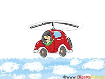 Obrazy tła HD Samochód na niebie