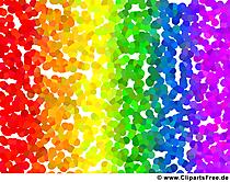 背景画像の虹