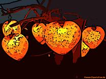 Brillant dans la conception de coeurs de nuit, illustration, clipart