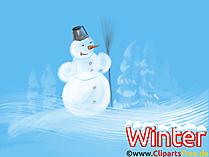 面白い壁紙雪だるま、冬、新年、大晦日
