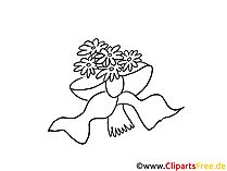 Brautblumenstrauß Clipart, Bild, Cartoon gratis