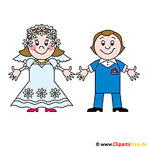 Bräutigam und Braut Bild kostenlos