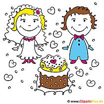 Yeni evliler clipart bedava