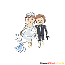 Bridal couple clipart to wedding for free