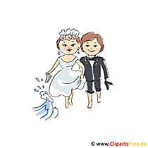 Düğün için gelin çift clipart