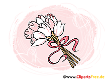 Brautstrauss, Blumenstrauss Hochzeit Clipart, Bild, Grafik, Illustration