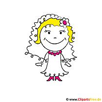 Cartoon Braut Clipart kostenlos