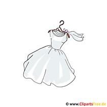 Cartoon zu Hochzeit Brautkleid