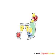 Şampanya clipart resimleri