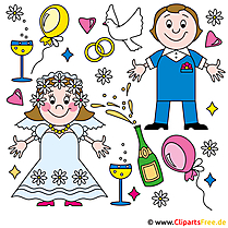 Clip art online wedding for free