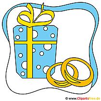 Clipart Hochzeitsmotive Trauringe gratis