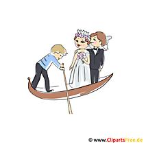Düğün için gondol Clipart görüntüleri