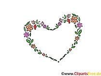 Hart Clipart bruiloft