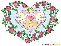 Alyans ile kalp Clipart