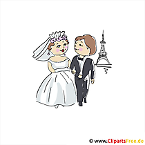 Paris Clipart Resim Düğün