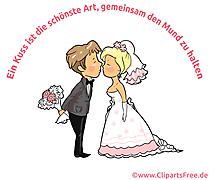 Hochzeit Spruch - Ein Kuss ist die schoenste Art, gemeinsam den Mund zu halten