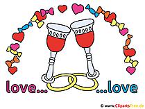 Hochzeit Spruch - Ein Kuss ist die schoenste Art, gemeinsam den Mund ...