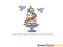 Hochzeitskuchen, Torte Clipart, Bild, Grafik