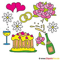Hochzeitsmotive Clipart gratis