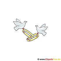 Alyans Clipart düğün için ücretsiz