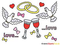 Küçük resim ile düğün güvercinler