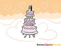 Düğün pastası resmi, illüstrasyon, küçük resim, ücretsiz kart