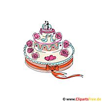 Karikatür tarzı düğün pastası resmi