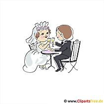 Karte zur Hochzeit Brautpaar