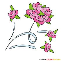 Kostenlose Clipart Hochzeit Brautblumenstrauss