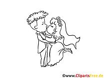 Küçük resim öpücük, resim, çizgi film, boyama Sayfa Ücretsiz