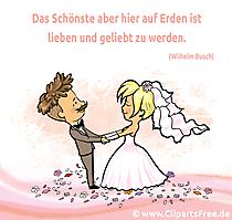 Schöne Sprüche und Zitate zur Hochzeit