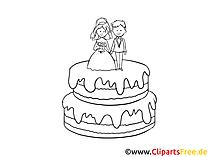 Torte Clipart Schwarz-Weiss gratis