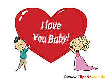 I love you baby - Clip Art, e-Card, Cartoon, Comic