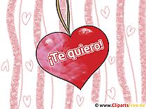 Ich liebe dich Spanisch Grusskarte, Clipart, GB Bild, Grafik, Cartoon